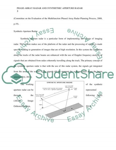 Phase-Array Radar and Synthetic-Aperture Radar (SAR) essay example