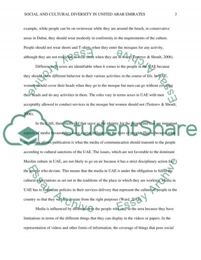 Social and cultural diversity in united arab emirates essay example