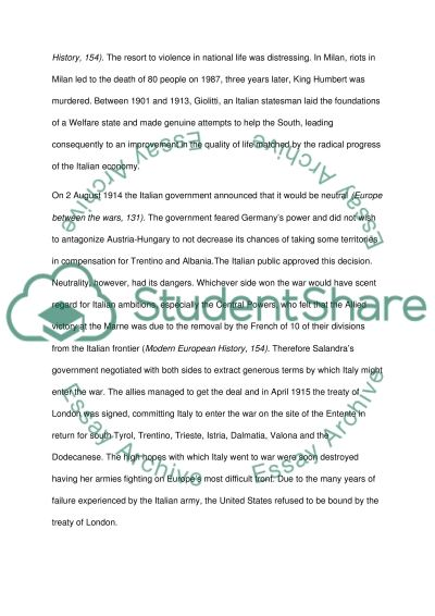 First World War Essay essay example