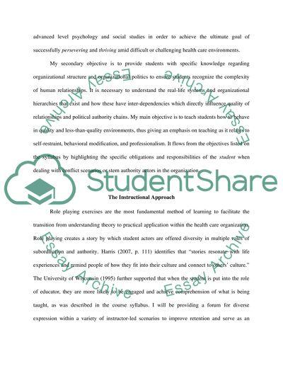 Course Content Portfolio