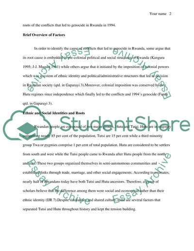 English As A World Language Essay Historical Roots Of The Conflict Leading To Genocide In Rwanda Essay About Paper also How To Write An Essay In High School Historical Roots Of The Conflict Leading To Genocide In Rwanda Essay Proposal Essays
