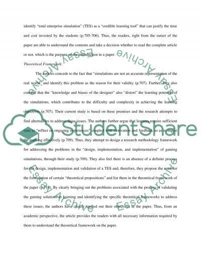 Review of an Academic Research Paper essay example