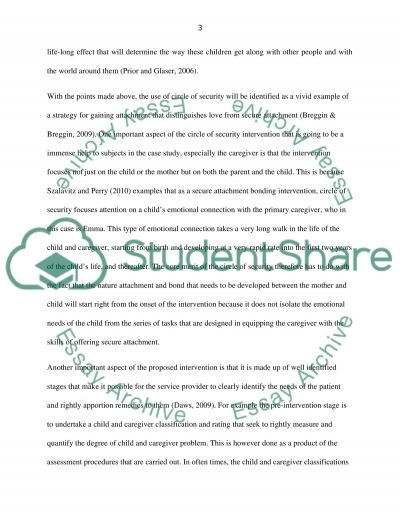 Early years an infant mental health essay example
