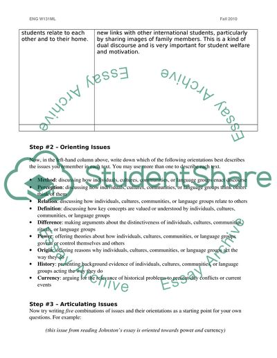 Issue Invention Handout (Formulating an Issue)