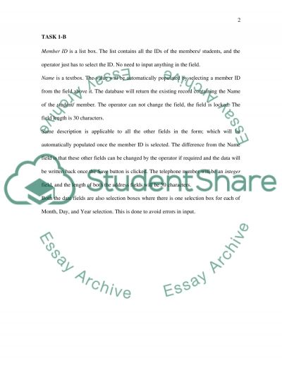 Student Identification Form essay example