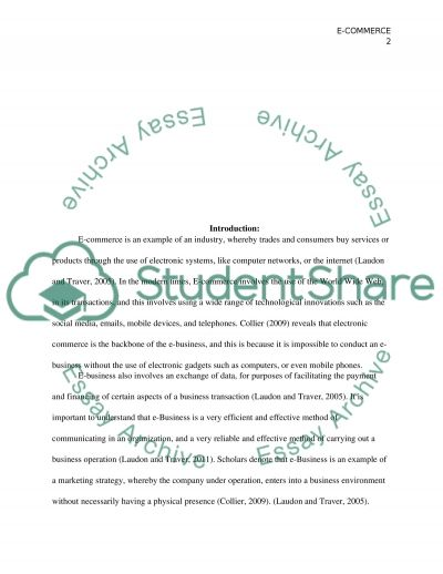 Marketing and e-commerce essay example