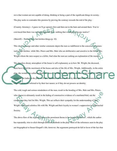 Topics For High School Essays Essay On Trifles Essays On English Language also High School Essay Samples Essay On Trifles Example  Topics And Well Written Essays   Words Argumentative Essay Thesis