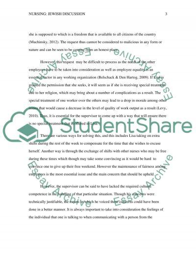 Jewish Discussion essay example