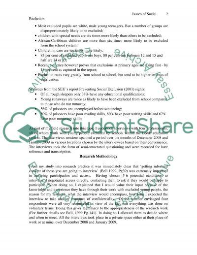 School Exclusion essay example