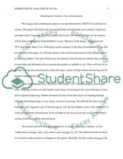 Semiotics essay example