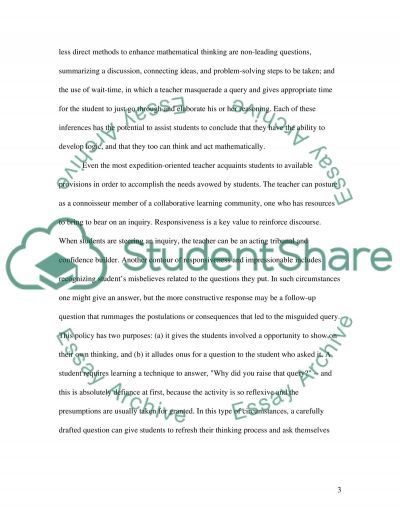 Mathematical Thinking essay example