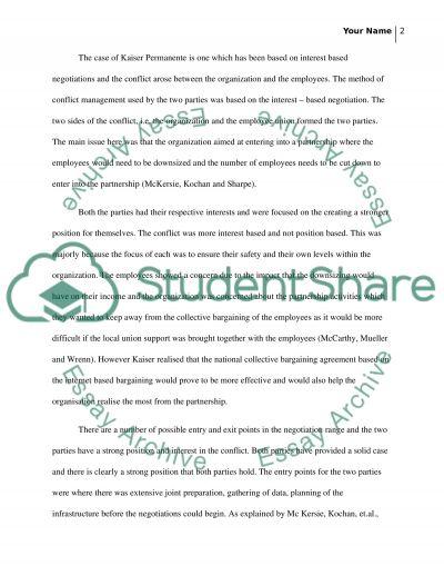 Ncm 512 case assignment module 2 Bargaining I (prepare prepare prepare) essay example