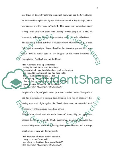 High School Argumentative Essay Examples The Epic Of Gilgamesh Interview Essay Paper also English Argument Essay Topics The Epic Of Gilgamesh Essay Example  Topics And Well Written Essays  The Yellow Wallpaper Critical Essay