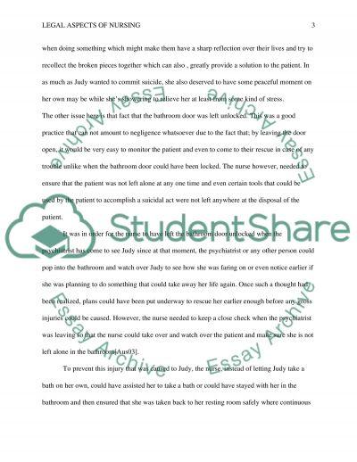 Homework 3B Legal Aspects of nursing essay example