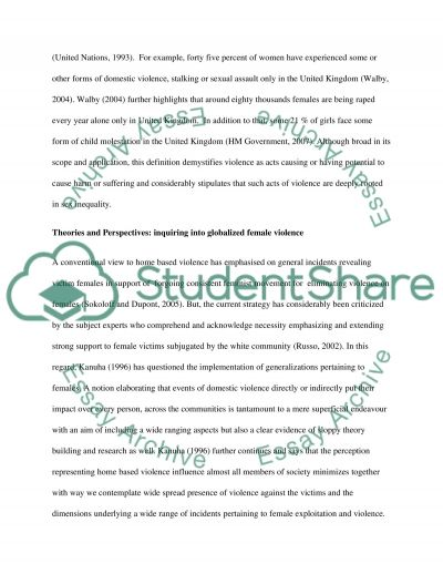 reducing domestic violence essay example This essay has been submitted by a law student this is not an example of the work written by our professional essay writers domestic violence.