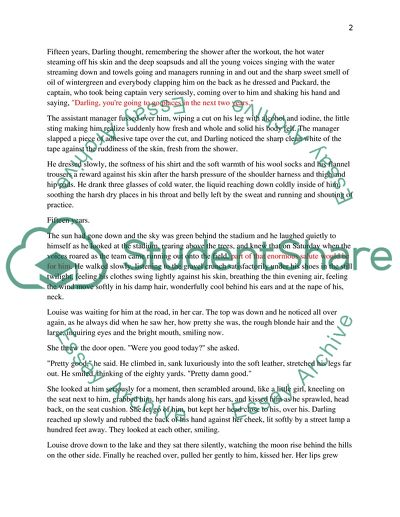 Thesis Statement Argumentative Essay Character Analysis Of Christian Darling In The Eightyyard Run Short Story High School Narrative Essay Examples also Reflection Paper Example Essays Character Analysis Of Christian Darling In The Eightyyard Run Short  Essay Proposal Outline