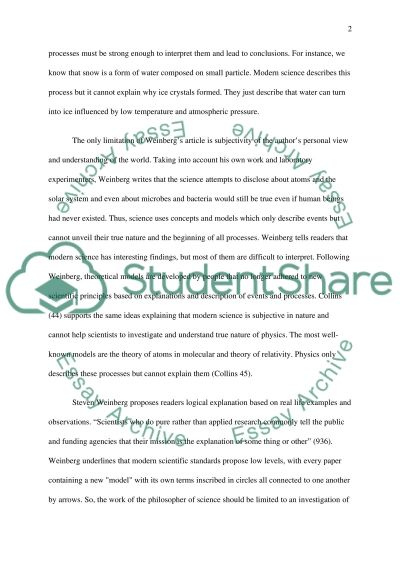 Relativity of Science essay example