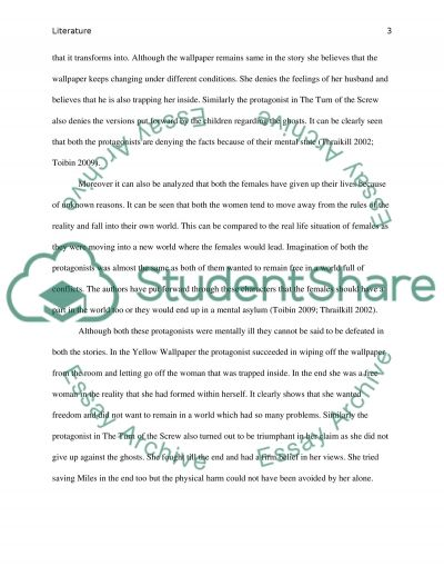 the turn of the screw essay Here are some examples of thesis-sentence statements on the turn of the screw from students in a theory course spring 2002: turn of the screw's narrator increasingly.