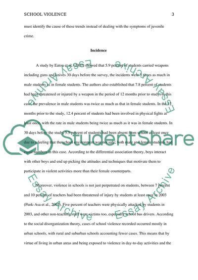 School Violence: A Criminology Research Paper
