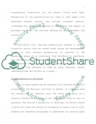 Learning Disabilities essay example