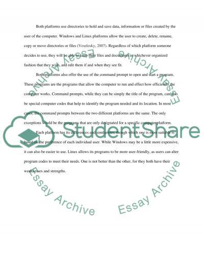 Windows Vs Linux essay example