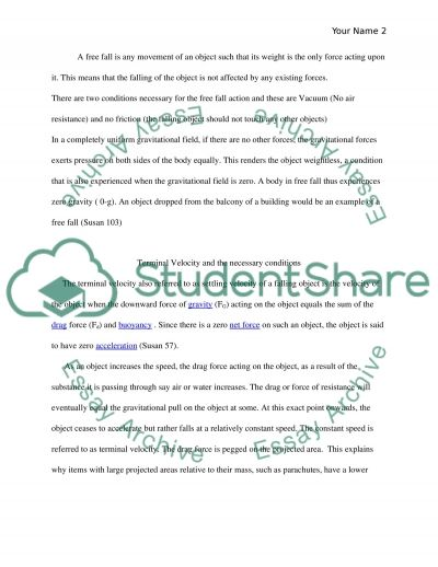 Physical Science essay example
