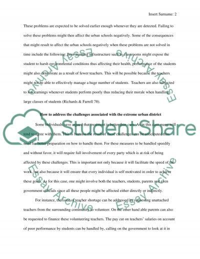 Urban School District--Baltimore City Schools in MD essay example
