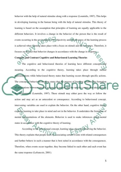 Learning theories essay