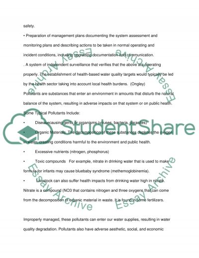 Water Quality Management essay example