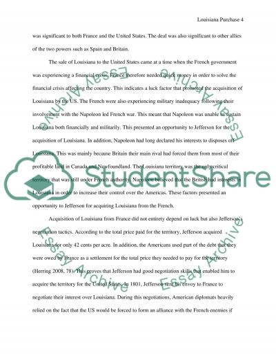 Louisiana purchase research papers