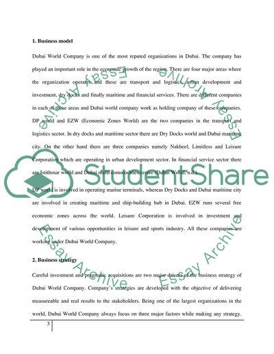 Case study on Dobai World company