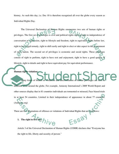 essay human rights violation