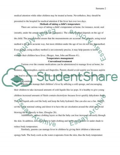 Educate parent attending accidebt emergency how to manage childs fever at home essay example