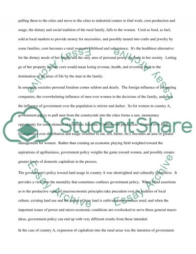 Government policy - case study Essay example