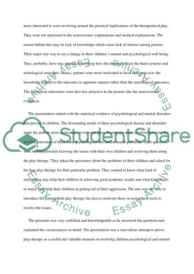 reflective commentary a play therapy presentation essay reflective commentary a play therapy presentation essay example