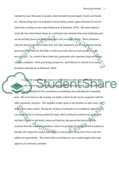 Social Influences on Behavior essay example