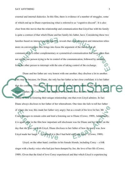 "Essay on the movie ""SAY ANYTHING"" Essay example"
