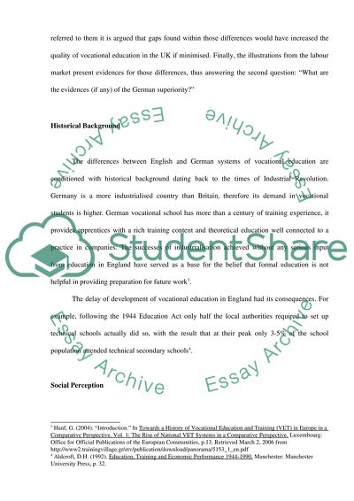 technical and vocational education essay
