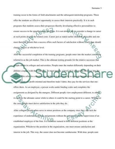 Steps To Starting Career After High School essay example