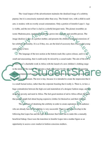 Custom Essay Paper Ad Analysis Gucci With Jennifer Lopez Argumentative Essay Topics For High School also Essay Topics For High School English Ad Analysis Gucci With Jennifer Lopez Essay Example  Topics And  How To Learn English Essay