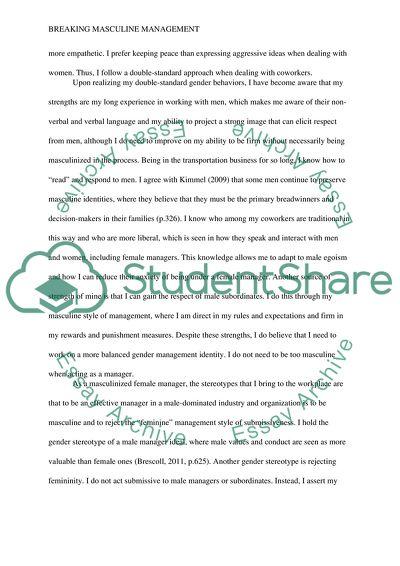 Self Analysis Paper