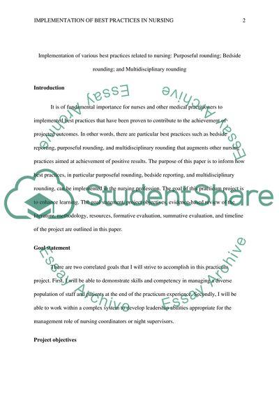 Practicum Project Plan