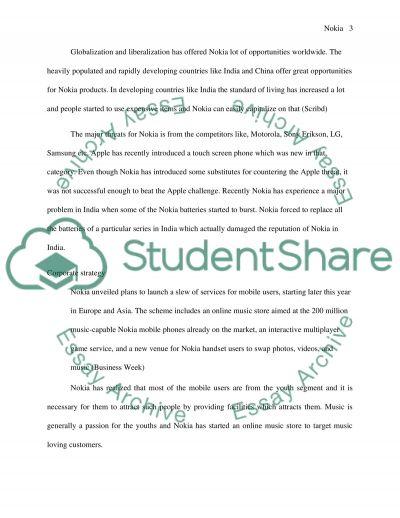 Nokia essay example