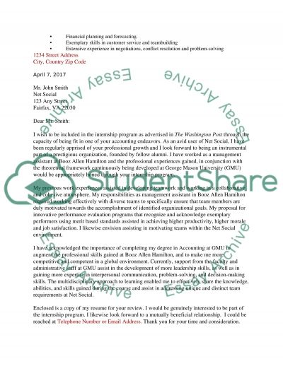Resume and Cover Letter Assignment essay example